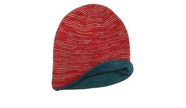 5964d164ada10 Amazon.com  Aquarius Boys Reversible Red Speckle Beanie Hat Stocking Cap   Clothing