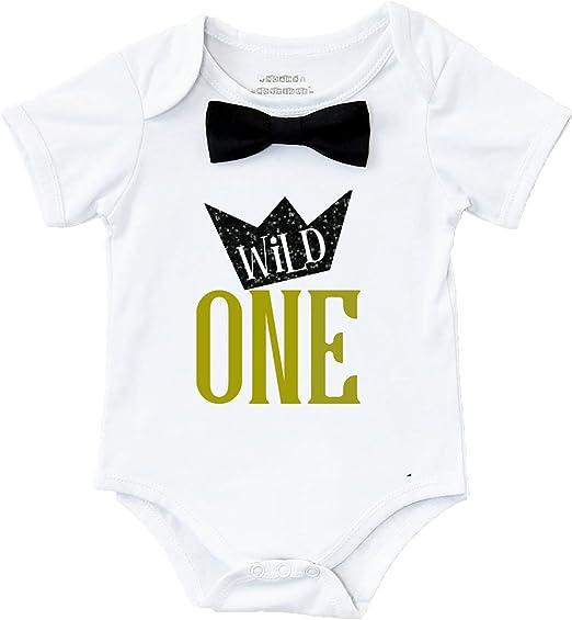 Amazon.com: Noé boytique Wild One niños primer cumpleaños ...