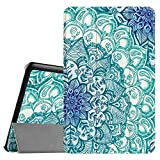 Fintie Slim Case for Samsung Galaxy Tab E 9.6 - Ultra Lightweight Protective Stand Cover for Tab E Wi-Fi/Tab E Nook/Tab E Verizon 9.6-Inch Tablet (SM-T560/T561/T565/T567V), Emerald Illusions