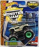 2017 Hot Wheels Monster Jam 1:64 Scale Truck with Team Flag - Alien Invasion