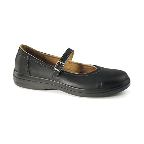 Lemaitre Corrine S2 SRC Ballerina Black Steel Toe Cap Office Formal Safety Shoes B014PBT212
