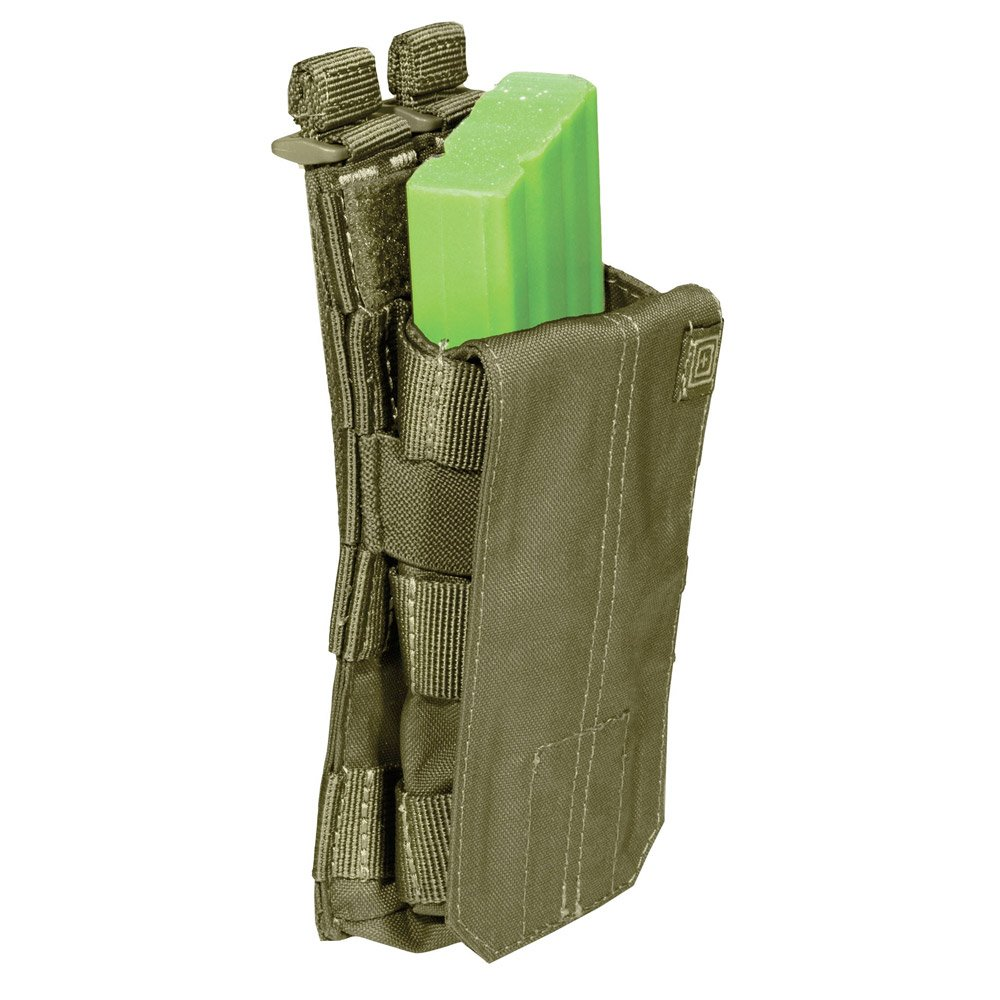5.11 Tactical Single Bungee Cover Ammo Pouch AR/G36 Mag Holder Webbing Olive OD by 5.11 56156