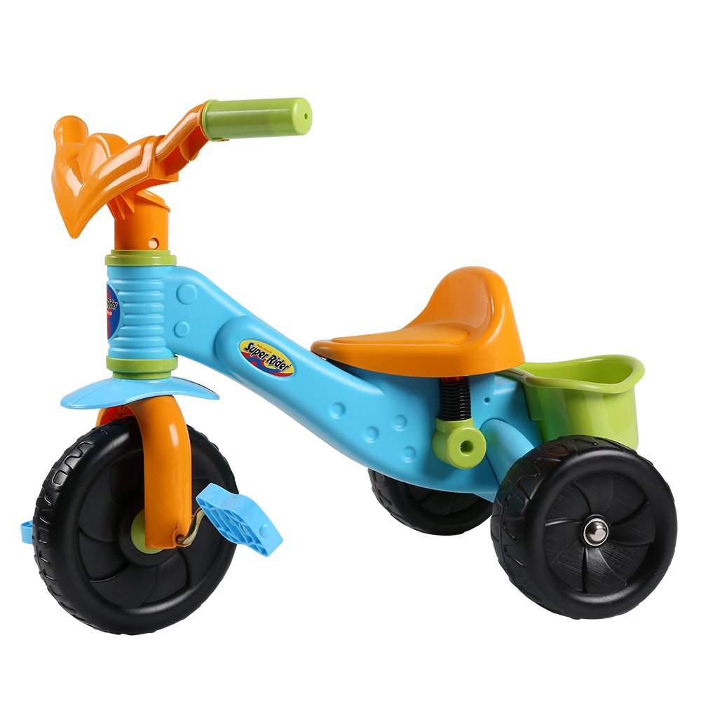 Virhuck Kids First Ride Trikes for Kids Toddlers Children Tricycle 3 Wheel Pedal Bike for 1 2 3 4 Years Old Kids Boys Girls, Multi-Coloured, Maximum Weight 30 KG