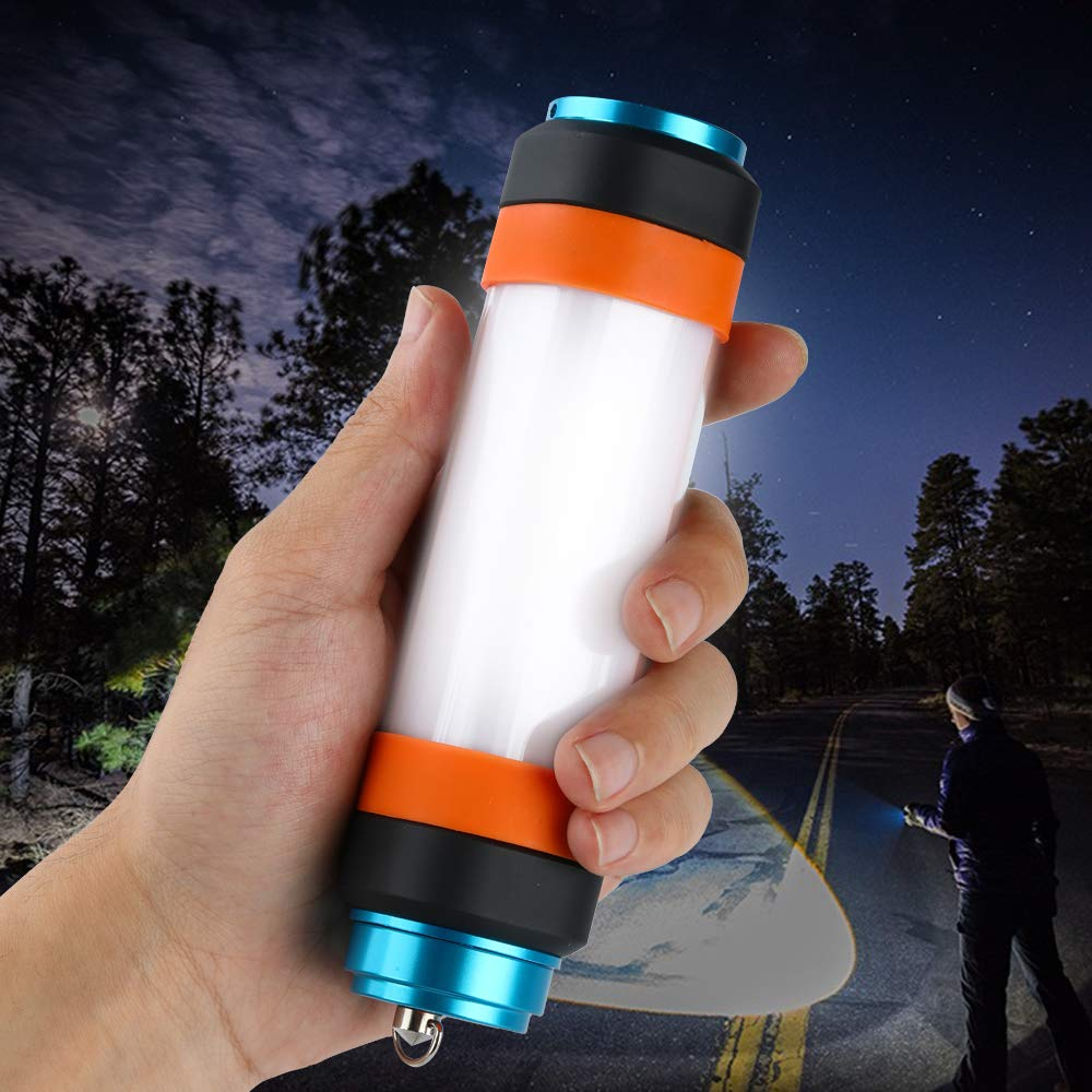 Magnetic Base Light Waterproof 6 Modes Best for Caming,Hiking,Wild Adventure Included Supfire Lantern Flashlight,Mosquito Multifunctional Rechargeable Camping Lantern with 18650 Battery