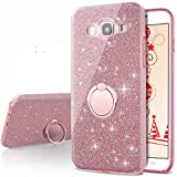 Galaxy A5 2016 Case,Silverback Girls Bling Glitter Sparkle Cute Phone Case With 360 Rotating Ring Stand, Soft TPU Outer Cover + Hard PC Inner Shell Skin for Samsung Galaxy A5 2016 -Rose Gold