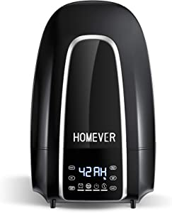 Homever Cool Mist Humidifier, Ultrasonic Humidifier - 5.6L Water Tank, Touch Screen, 360° Nozzle, Auto Shut-Off & Timing Function, Whisper-Quiet Operation For Bedroom And Babies. Winter Essential