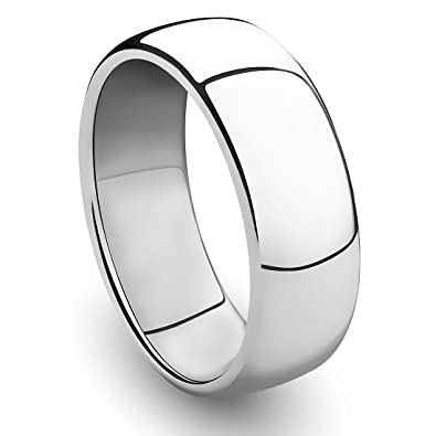 cavalier jewelers 8mm cobalt chrome ring classic wedding band with polished finish size 7