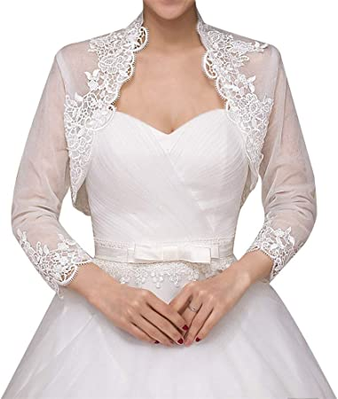 Fine Giacca Coprispalle Nuziale stile Bolerino da Sposa in Tulle