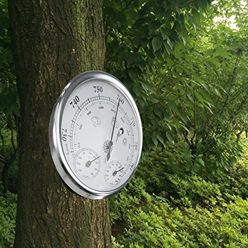INNI Wall Hanging Weather Forecast Thermometer Hygrometer Air Pressure Meter-30~+50 0~100% Rh 960~1060hPa by INNI (Image #2)