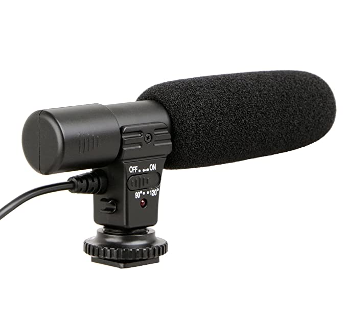 ayex Richtmikrofon Mikrofon für Camcorder u DSLR Kameras