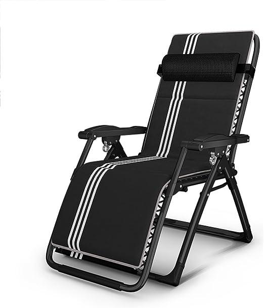 Amazon.com: Sillas plegables ZR- Silla reclinable para ...