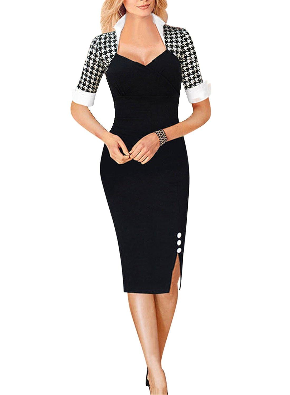 Fordestiny Knielang Etuikleid Business Kleid Elegantes Abendkleid ...