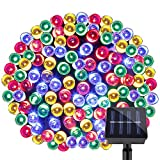 LE 200 LEDs Solar String Light 65ft/20m 8 Modes Waterproof Christmas Garden Party Patio Outdoor Decoration RGB