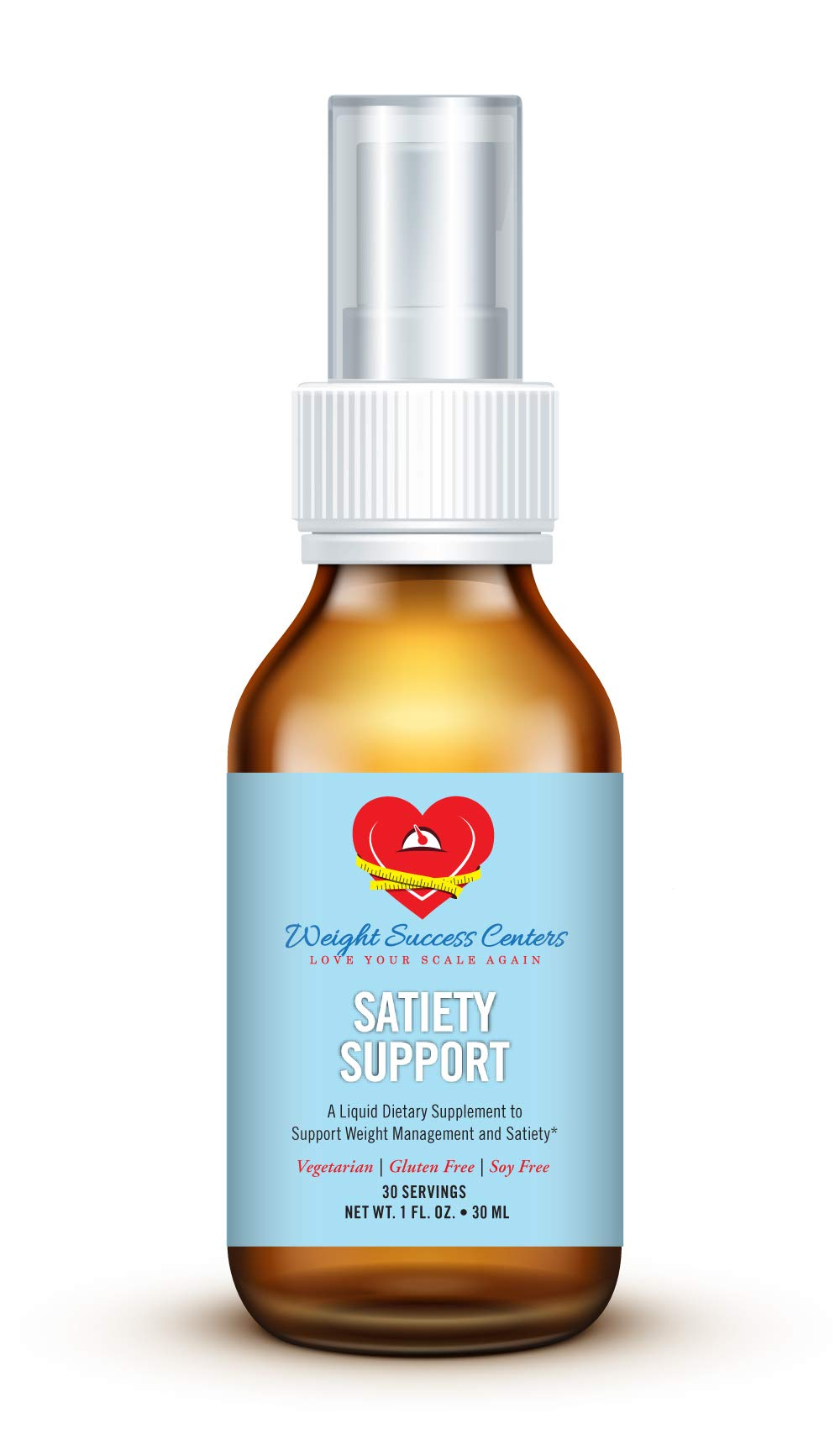 Satiety Support Hunger Control Spray - Natural Appetite Suppressant - Made with Dyglofit - All-Natural Hunger Suppressant - Suitable for Vegetarians - Gluten and Soy Free - 30 Servings by Weight Success Centers, LLC