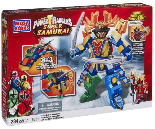 Mega Bloks Power Rangers Samurai Claw Armor Megazord ()