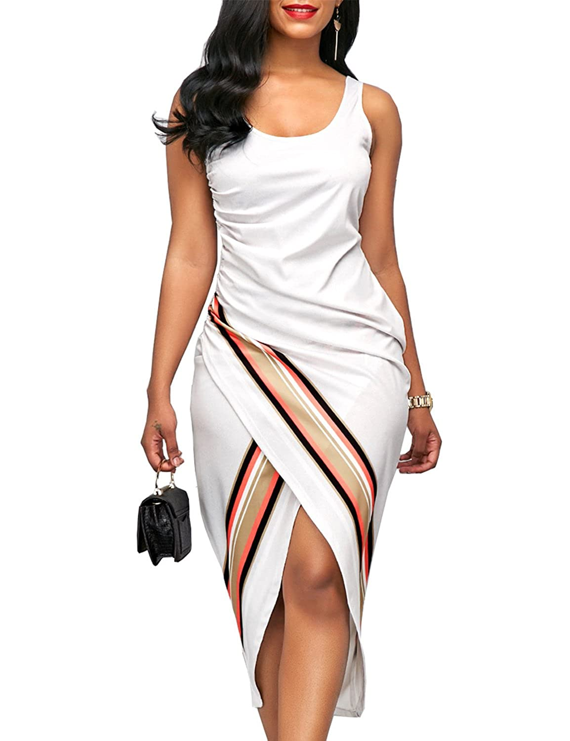 ca28c01f4dc  Design  Elegant Artistry White Midi Dress is all you need for a  put-together look! Lightweight dress has a scoop neckline
