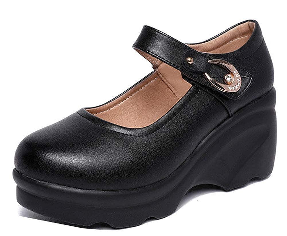 Easemax Femme Unique Talon Compensé Métallique Outdoor Mary Janes   Amazon.fr  Chaussures et Sacs a7e170370ea8