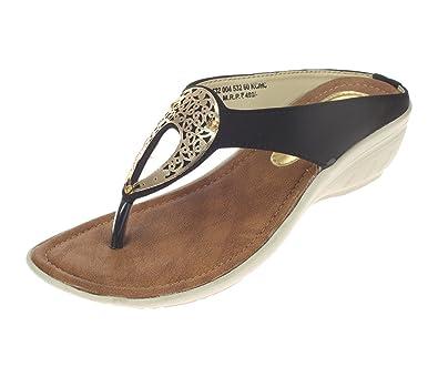Khadims Womens Black Faux Leather Heels