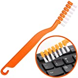 Keyboard Cleaner Computer Brush with Anti Scratch Bristles and Non Slip Grip Sturdy Hook for Cleaning Keyboard Electronic PC Motherboard Toys Musical Instrument Car Dashboard Fan
