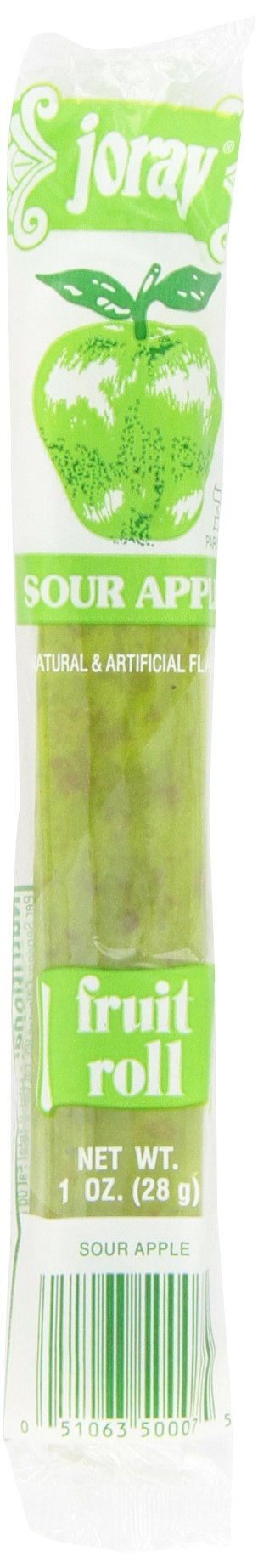 Joray Fruit Roll, Sour Apple, 1-Ounce Units (Pack of 48)