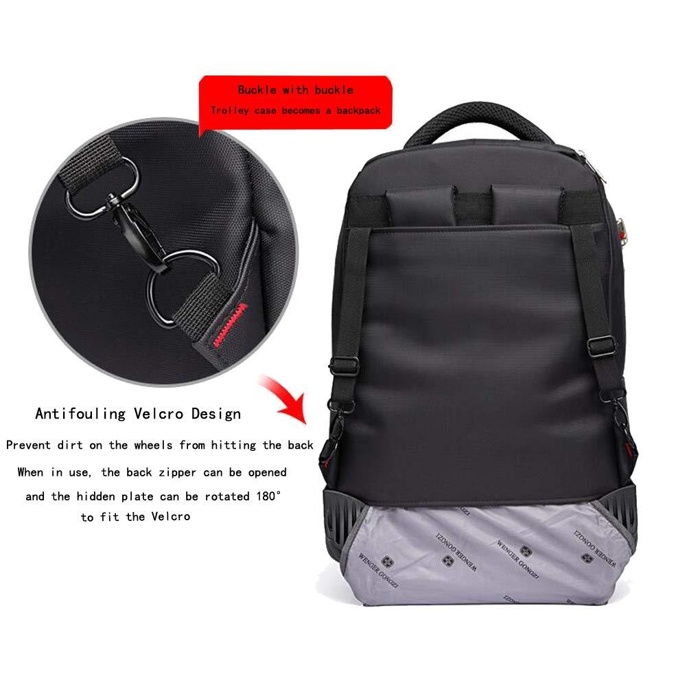 PLAQV Laptop Sac /à Dos /à roulettes-Grande capacit/é Sac /à Dos de Voyage avec 4 Roues Sac /à Dos Trolley pour 15.6 Pouces Ordinateur Portable