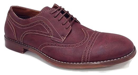139357E Men's Lace Up Oxfords Shoe Leather Lined Wingtip
