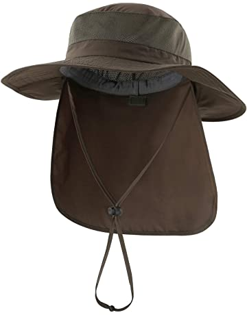 uk availability 42933 f0494 Home Prefer Outdoor UPF50+ Mesh Sun Hat Wide Brim Fishing Hat with Neck Flap
