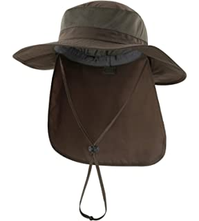 11ba97a0d71 Home Prefer Outdoor UPF50+ Mesh Sun Hat Wide Brim Fishing Hat with Neck Flap