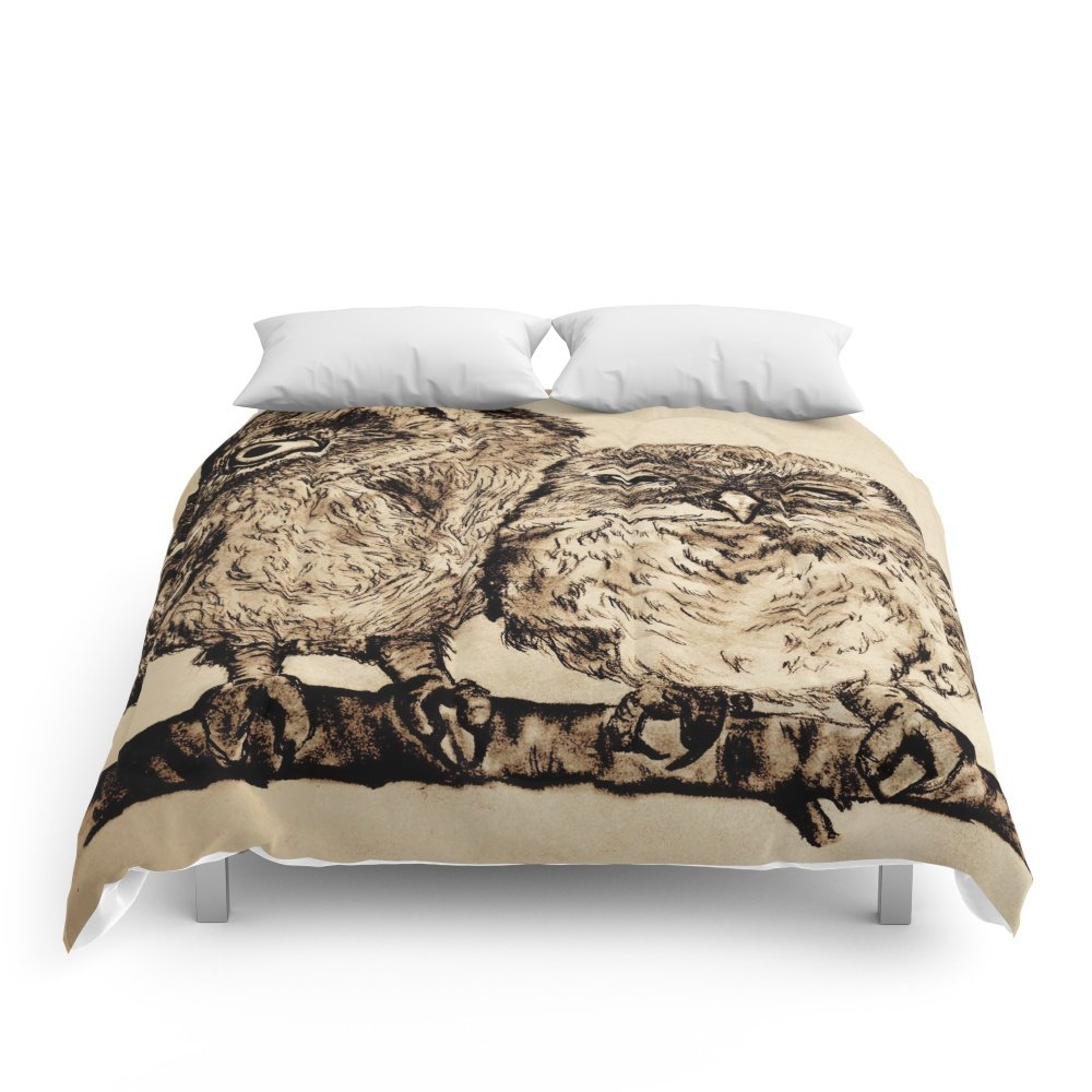 Society6 Two Owls Comforters Queen: 88'' x 88''