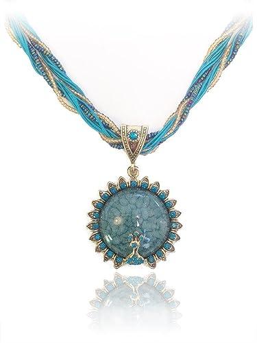 Signore-Signori® Retro Circle Statement Necklace Handmade Costume Fashion Jewellery Christmas Gift rhjXRGbM