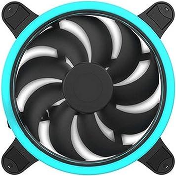 Hiditec | Ventilador Ultra Silencioso RGB con Luz Led para PC y para Caja de Ordenador Gaming | Tamaño 120mm Materiales | Ventilación Gamer: Amazon.es: Electrónica