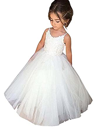 Amazoncom Muchxi Flower Girl Lace Tulle Country Ball Gowns First