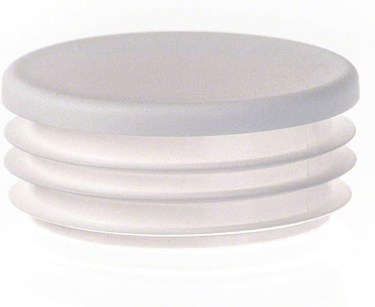 bouchon pour tube rond 80 mm blanc plastique Capuchon Bouchons 1 pcs