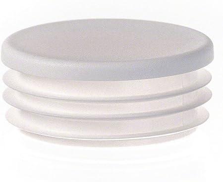 bouchon pour tube rond 18 gris plastique Capuchon Bouchons 10 pcs