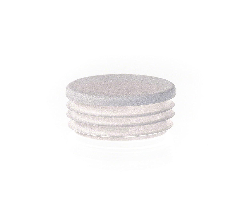 1 Stck Rundstopfen 30 Wei/ß Kunststoff Lamellenstopfen Abdeckkappe