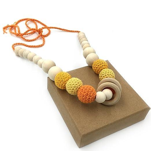 2 opinioni per Coskiss Giallo Crochet borda la collana dentizione Massaggiagengive collana