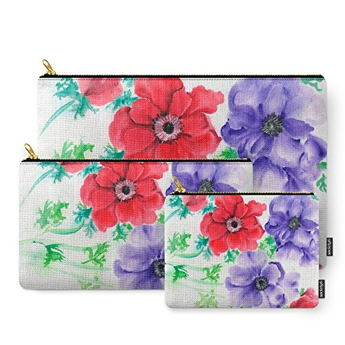Society6 Anemones Carry-All Pouch Set of 3 (Anemone Pouch)