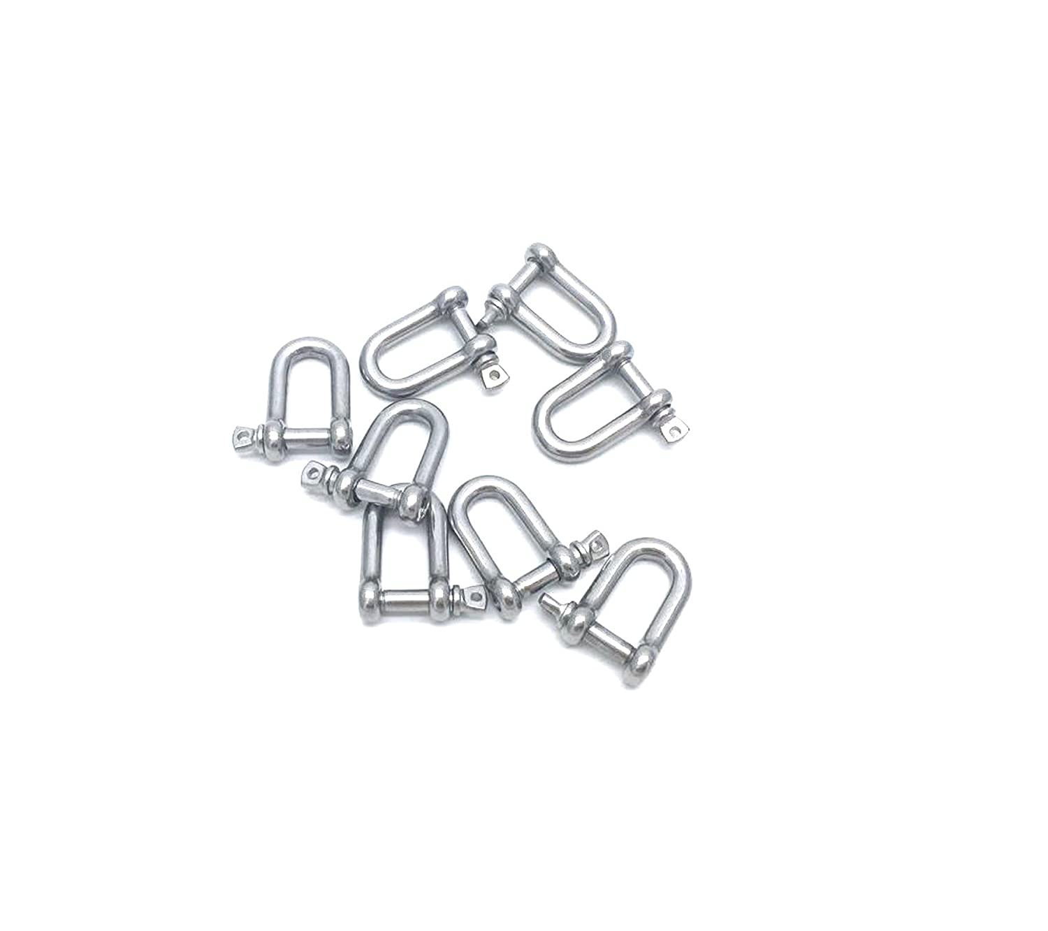LTD Antrader 304 Stainless Steel Forged D Shackles 5//32 Inch with Fastening Strap 8pcs Guangzhou Openfind Electronic Commerce CO
