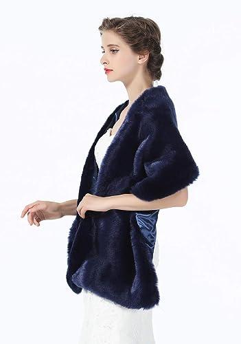 6bd60c6ab BEAUTELICATE Estola Chal Pelo Mujer Boleros Mantón para Fiesta Bodas Novia  Invierno Vestido de Noche S76  Amazon.es  Ropa y accesorios