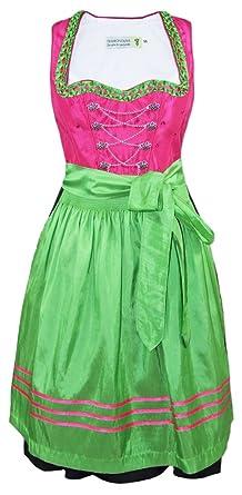 a95d70df750116 Tramontana Dirndl Nadja - Pink Grün 60cm - Gr. 34: Amazon.de: Bekleidung