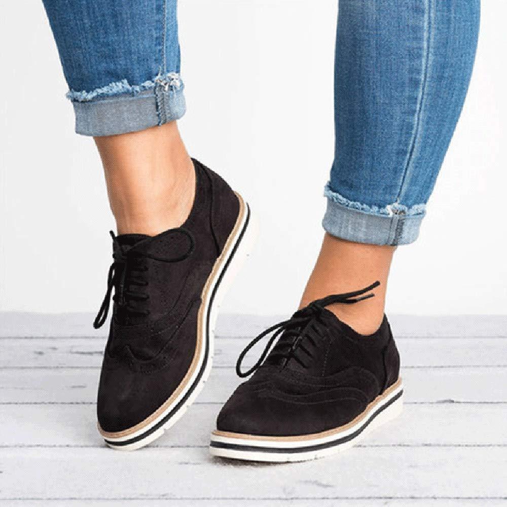 Zapatos planos casual con correa de mujer,Sonnena ❤ Zapatos de punta redonda para mujer Color sólido fondo plano de longitud de tobillo Casuals de ...