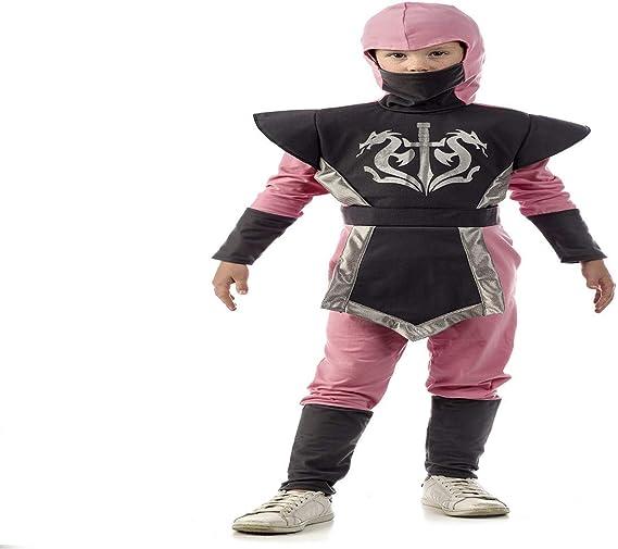 Disfraz de Ninja Rosa Para Niña: Amazon.es: Juguetes y juegos