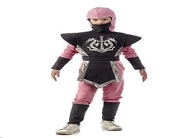 Disfraz de Ninja rosa para niña