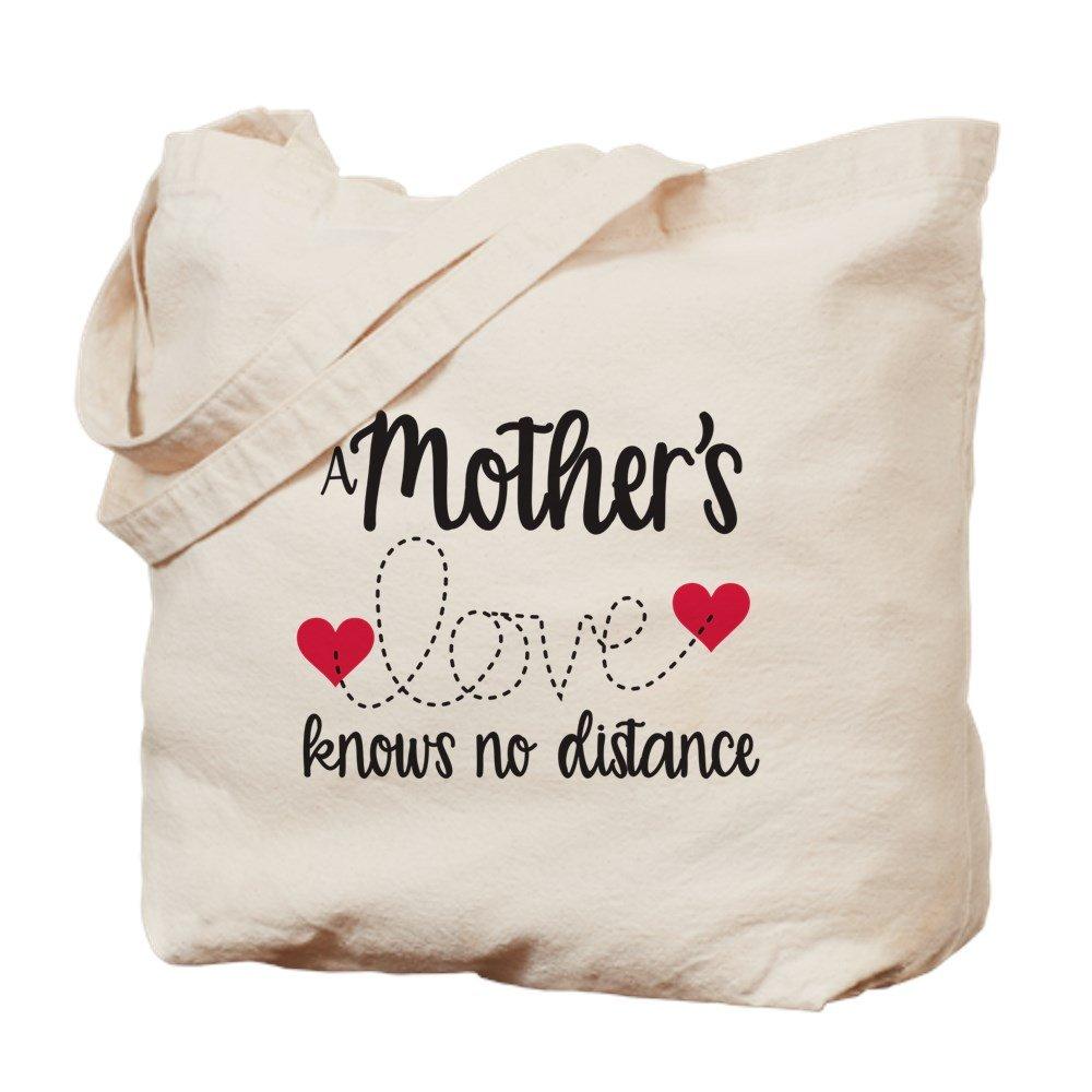 CafePress – 母の愛Knows No距離 – ナチュラルキャンバストートバッグ、布ショッピングバッグ B06ZYWXPHT
