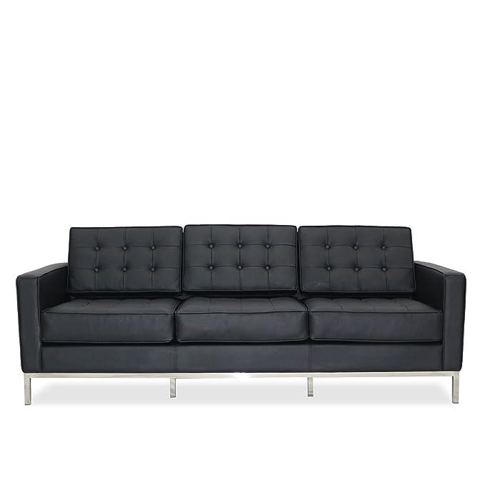 Lo + deModa mies sofá de 3 plazas Part, Acero/Espuma D30/D35 ...