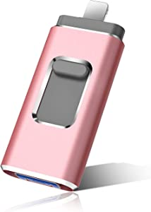 Flash Drive for Phone Photo Stick 1TB Memory Stick USB 3.0 Flash Drive Thumb Drive for Phone and Computers (1TB, Pink)