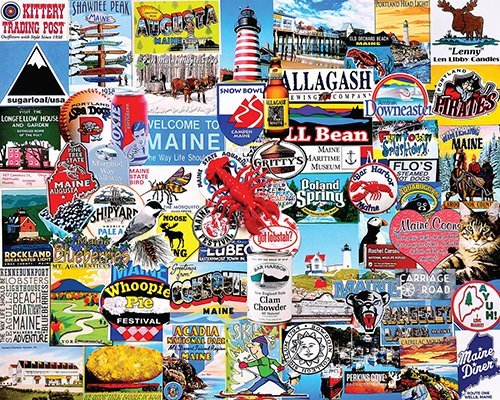 White Mountain Puzzles I Love Maine Puzzle, - Freeport Maine Shops
