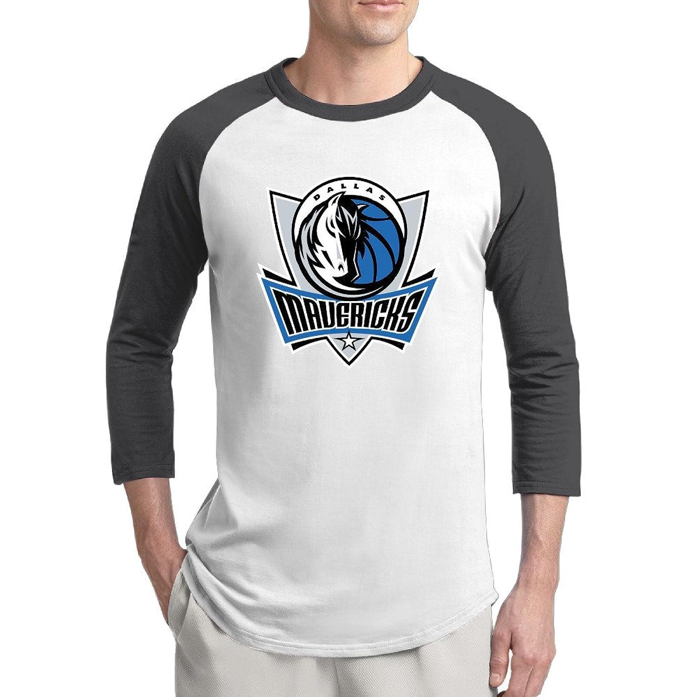 Men's Cotton Dallas Mavericks Logo Baseball Raglan Shirts