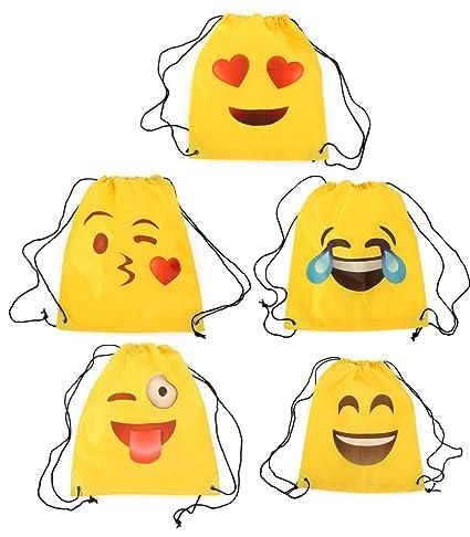 Lote de 20 Mochilas Petate Emoticonos - Mochilas Escolares, Merienda, Infantiles, Infantil para niños y niñas. Regalos, Detalles y Recuerdos Invitados de ...