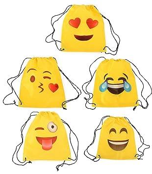 Lote de 20 Mochilas Petate Emoticonos - Mochilas, petates Infantiles, Infantil para niños y niñas. Regalos, Detalles y Recuerdos Invitados de Bodas, ...